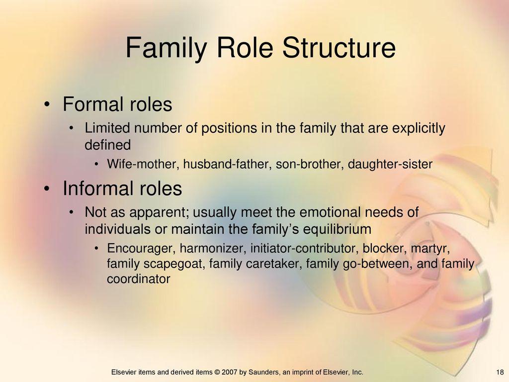 informal family roles