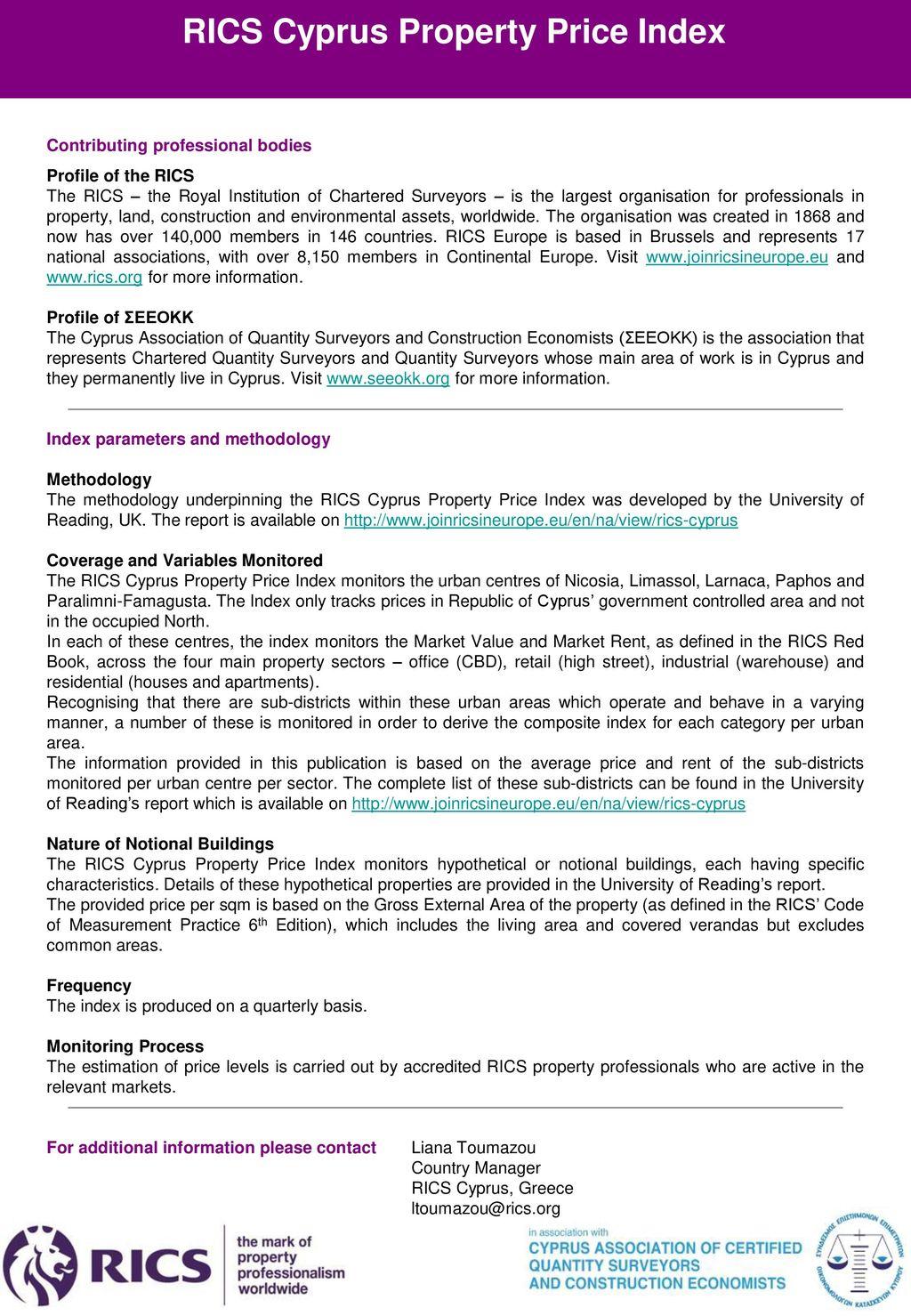 RICS Cyprus Property Price Index - ppt download