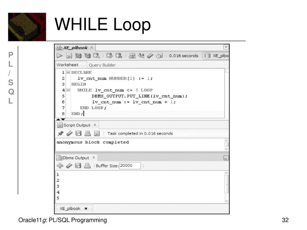 Oracle11g: PL/SQL Programming Chapter 2 Basic PL/SQL Block