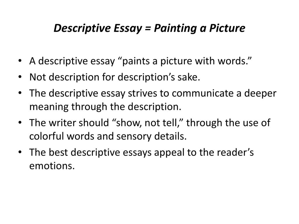 Thesis Of A Compare And Contrast Essay Descriptive Essay  Painting A Picture Persuasive Essays Examples For High School also Good Proposal Essay Topics Types Of Essays End The Confusion  Ppt Download Proposal Essay