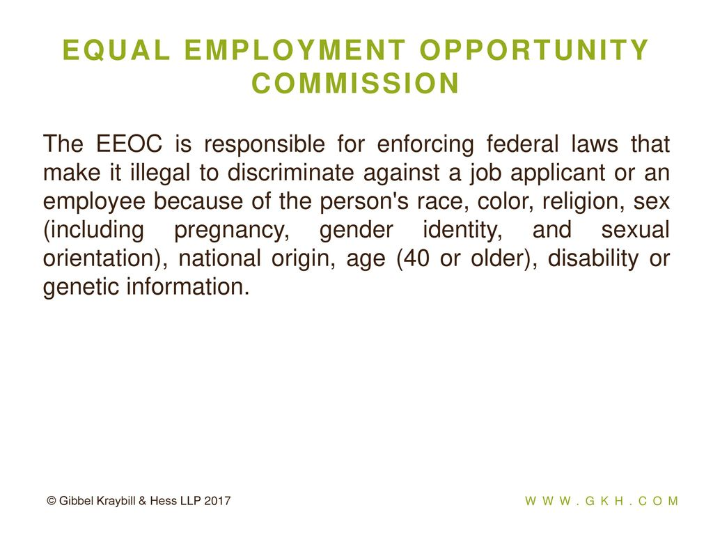 Eeo federally protected classes sexual orientation