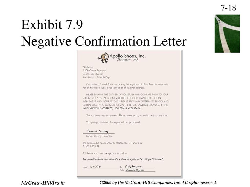 Audit Confirmation Letter Sample from slideplayer.com