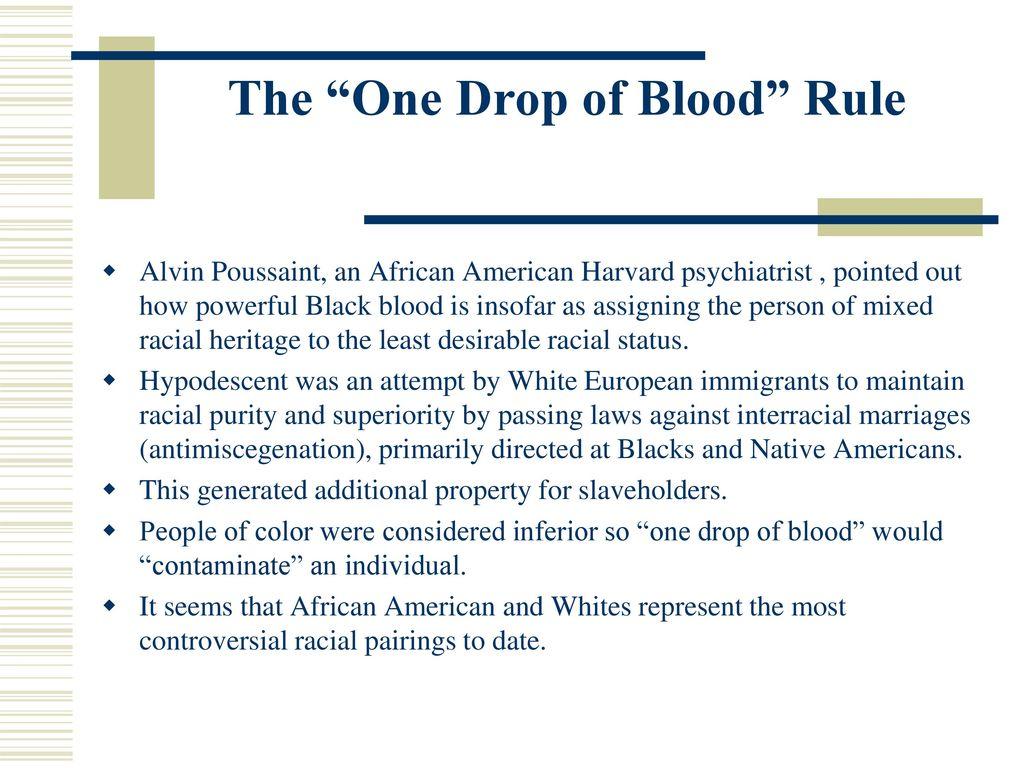one drop of blood rule