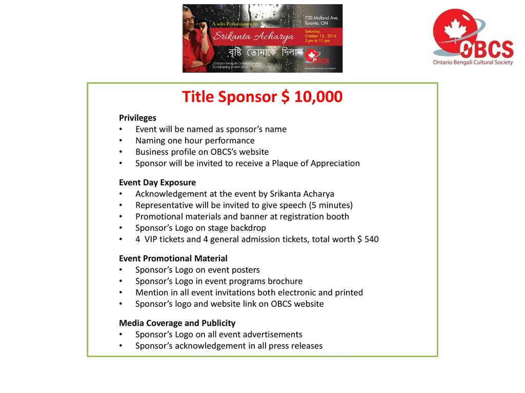 sponsorship proposal join us in this great event ppt download