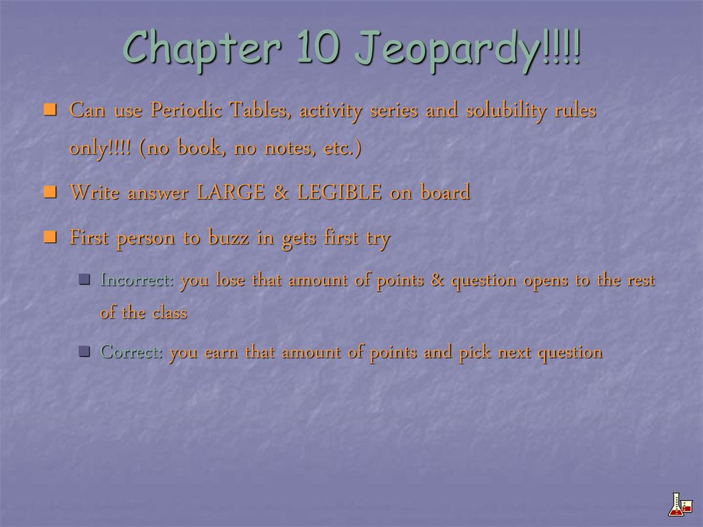 Chapter 10 jeopardy can use periodic tables activity series and can use periodic tables activity series and solubility urtaz Image collections