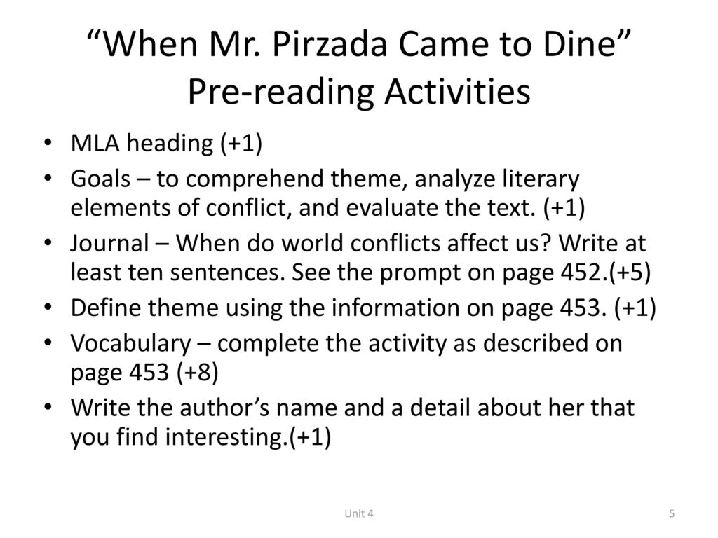 when mr pirzada came to dine answers