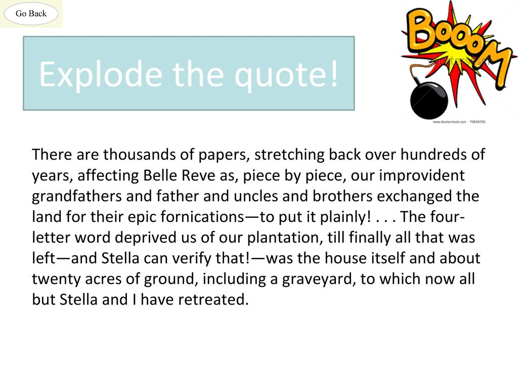 There Are Thousands Of Papers Stretching Back Over Hundreds Of Years Affecting Belle Reve