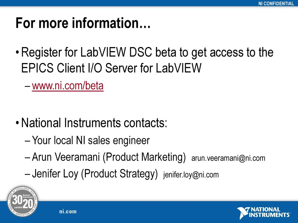 Ni Labview Registration