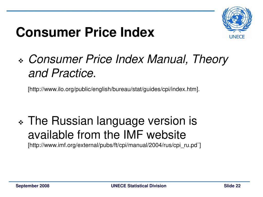 22 Consumer Price Index Consumer Price Index Manual ...