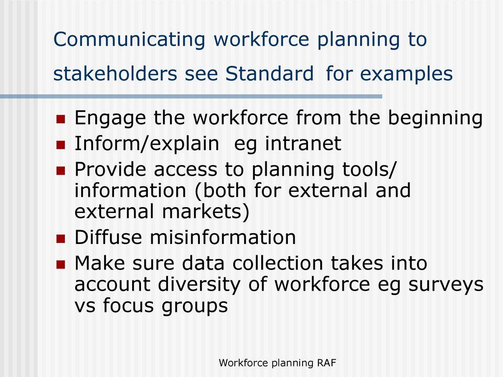 Manage workforce planning - ppt download