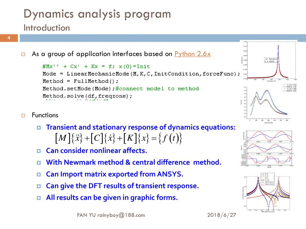 Structural Dynamics Analysis: Program Designing And