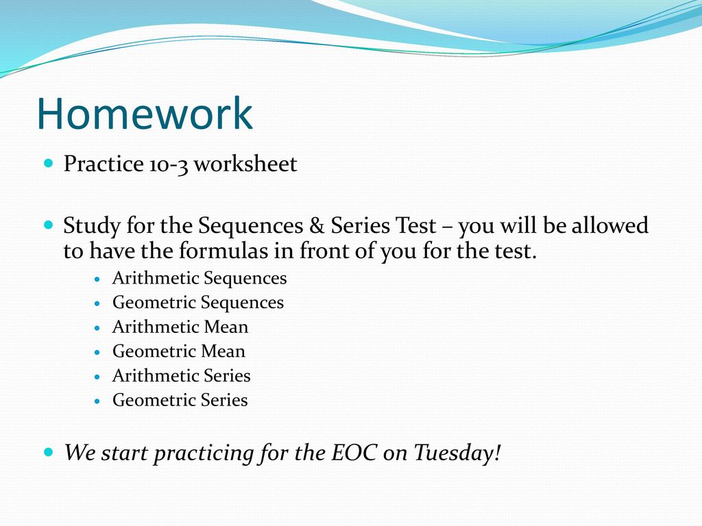 Sec 6: Arithmetic & Geometric Series - ppt download