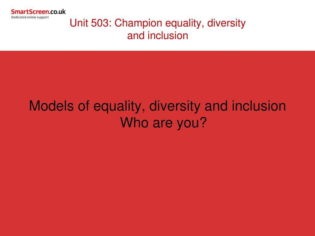models of equality diversity and inclusion