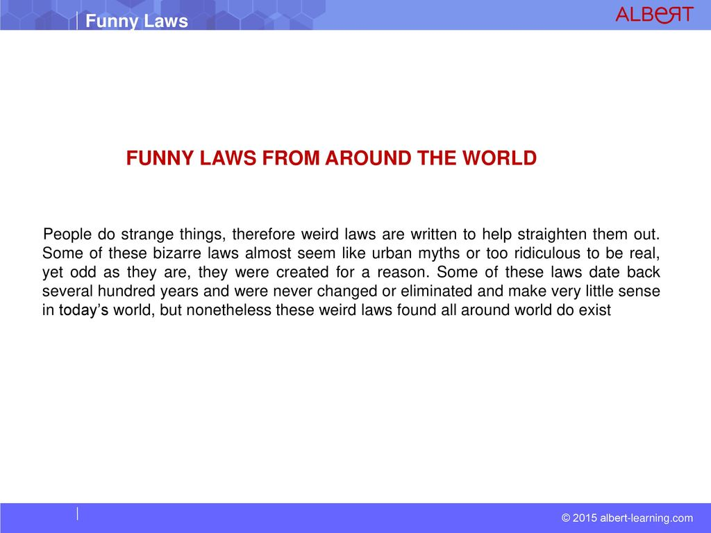Dumb Laws In Texas >> Funny Laws From Around The World Ppt Download
