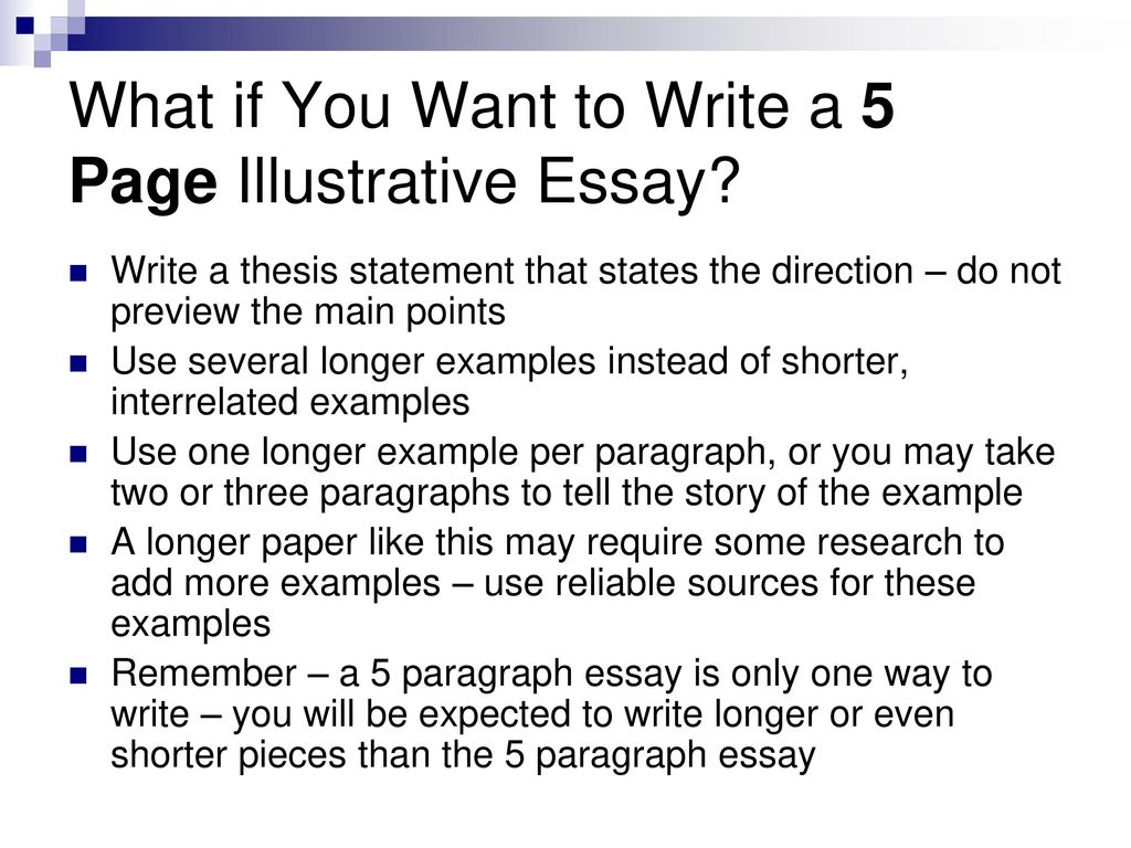 Personal Narrative Essay Examples High School What If You Want To Write A  Page Illustrative Essay How To Write An Essay Proposal Example also Thesis Examples For Essays The Illustrative Essay Exposing The Examples  Ppt Download Essay Writing For High School Students