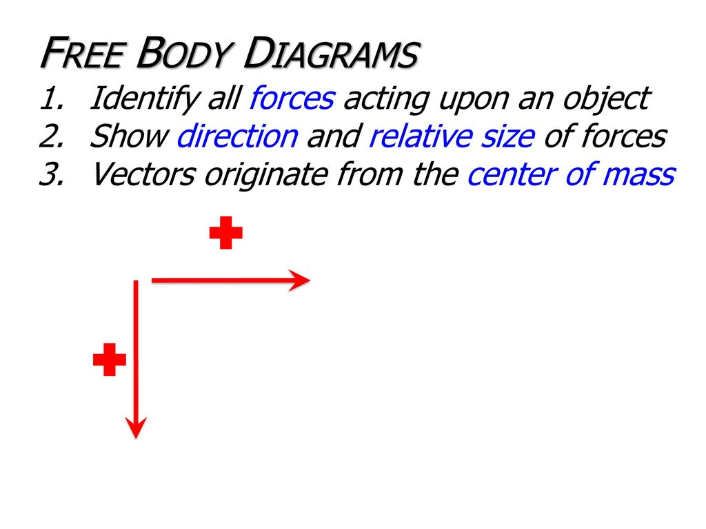 Newtons Laws Ppt Download Free Body Diagram Is A Picture Showing The Forces That Act On 15 Diagrams Identify All Acting Upon An Object Show Direction And Relative