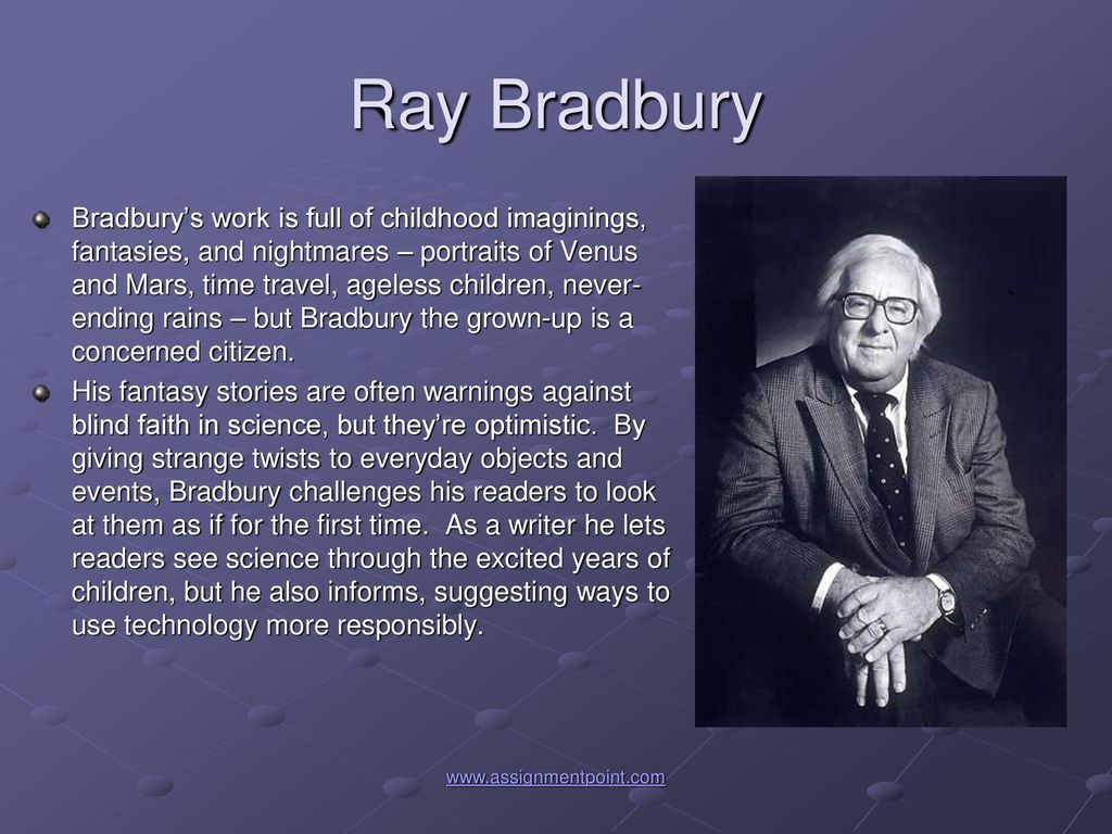 If you watch one music photo about ray bradbury, make it this one