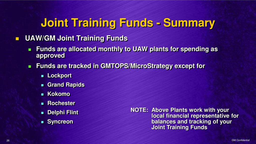 Monitoring And Reconciling Local Joint Funds Ppt Download