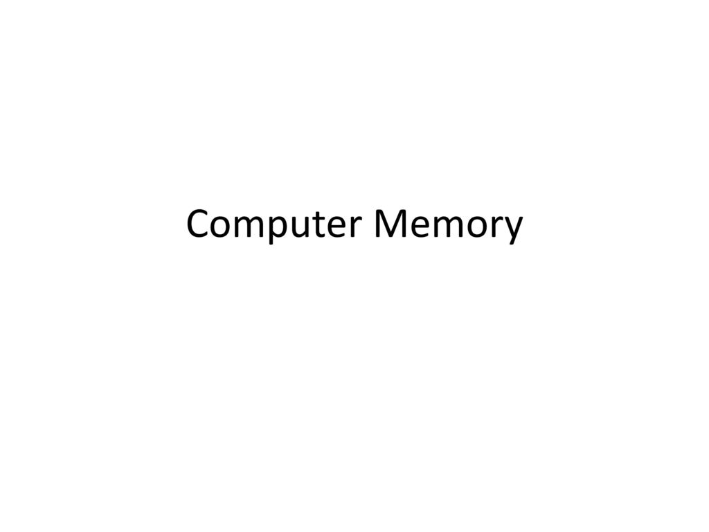 Computer Memory Ppt Download 1 Gb Ddr1 Pc3200 Ready