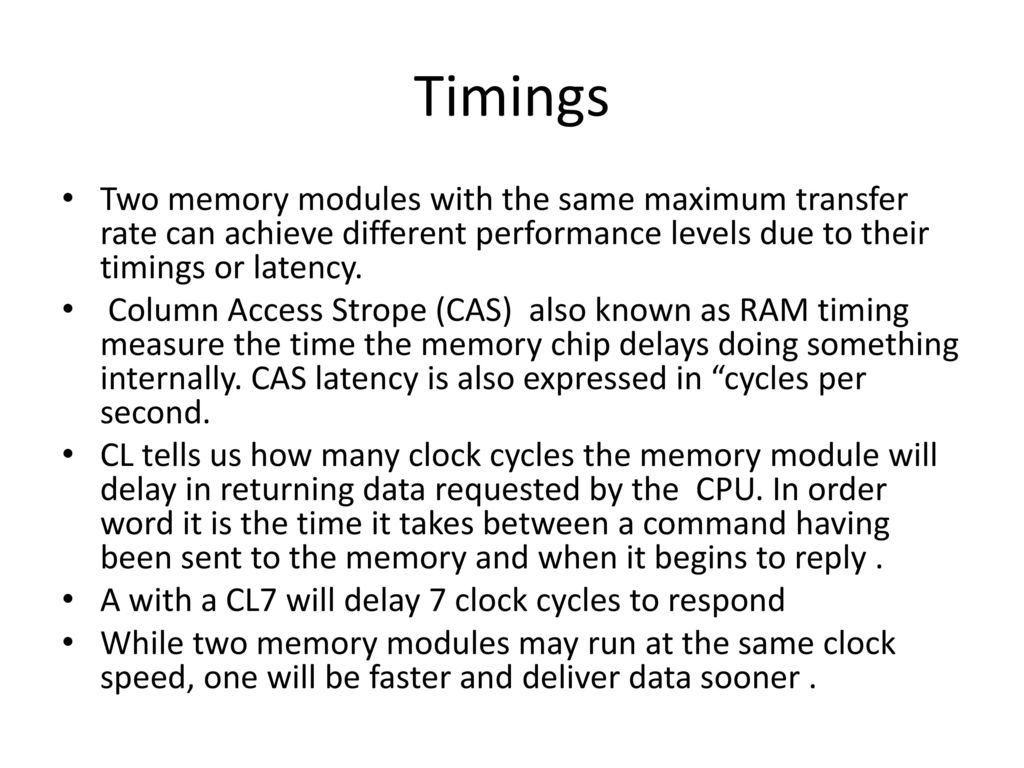 Computer Memory  - ppt download