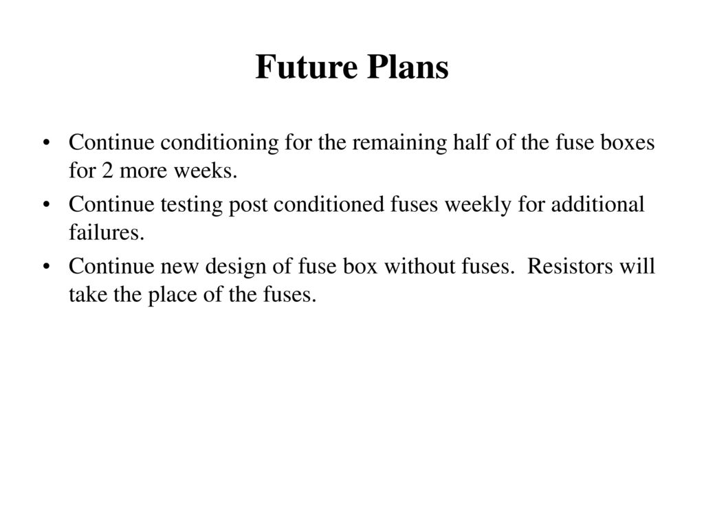 Summary of Fuse Testing for Barrel Module Fuse Bo - ppt ... on