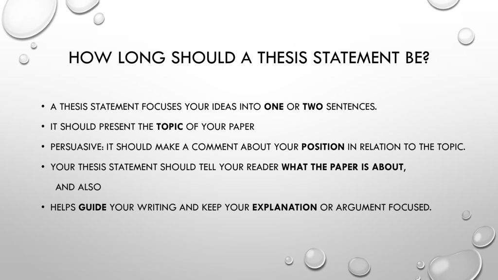 Masters thesis length