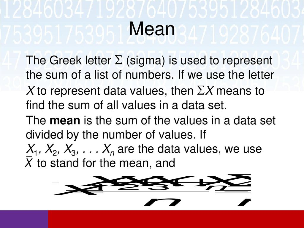 4 mean the greek letter