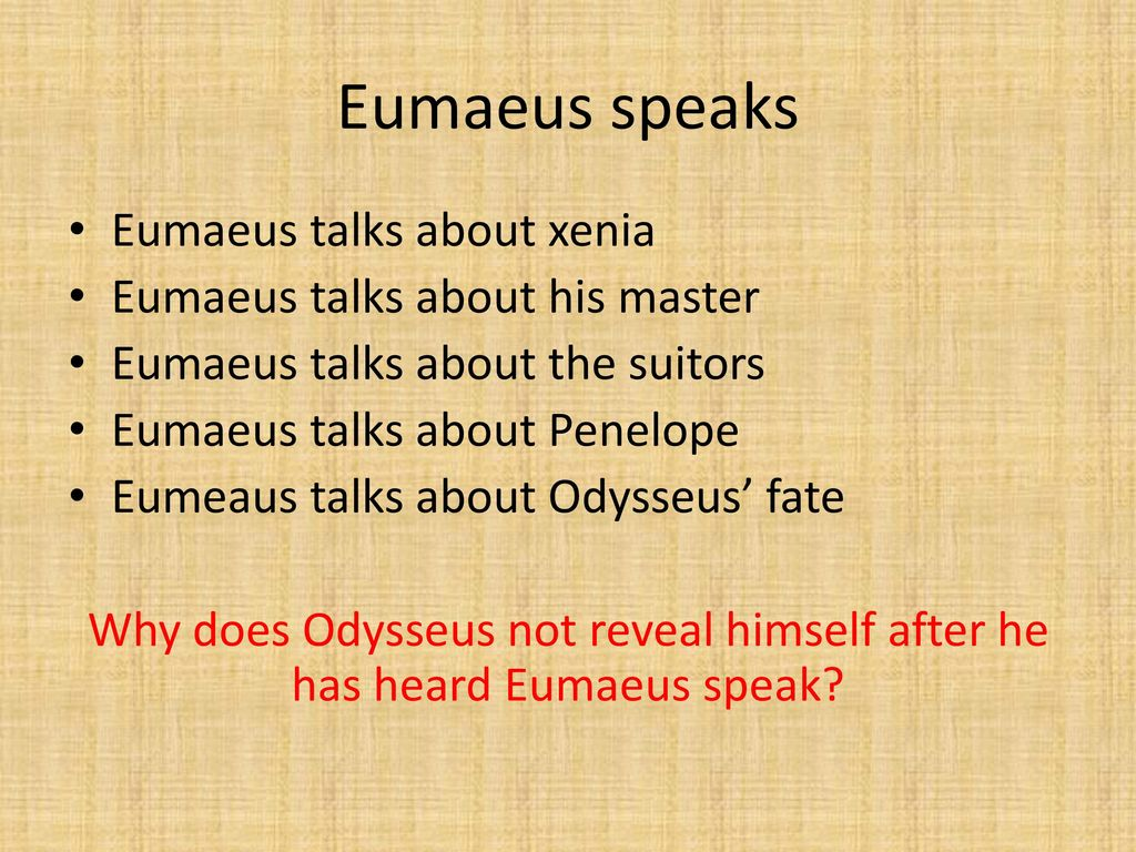what does odysseus tell penelope about himself