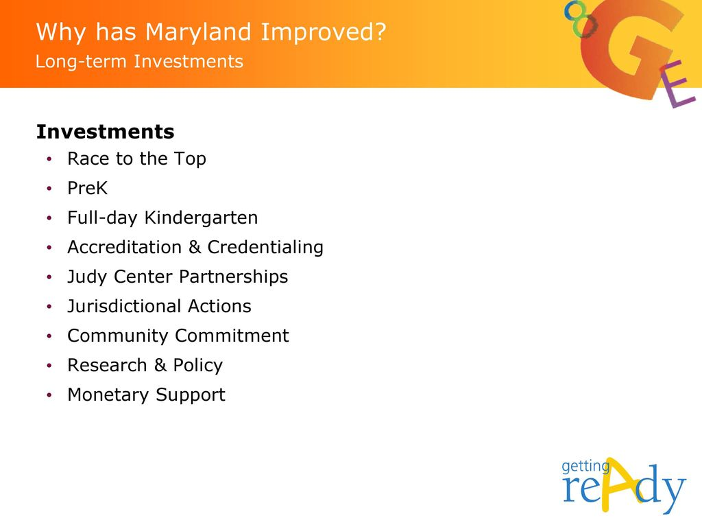 Why has Maryland Improved Long-term Investments