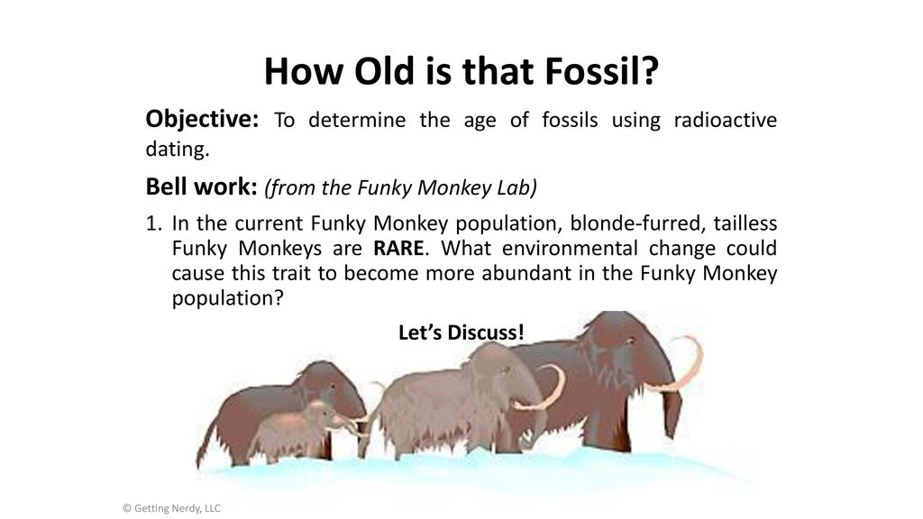 how does radioactive dating determine the age of fossils