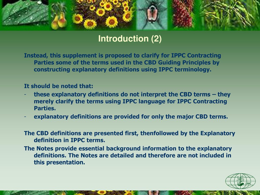 terminology of the convention on biological diversity in relation to