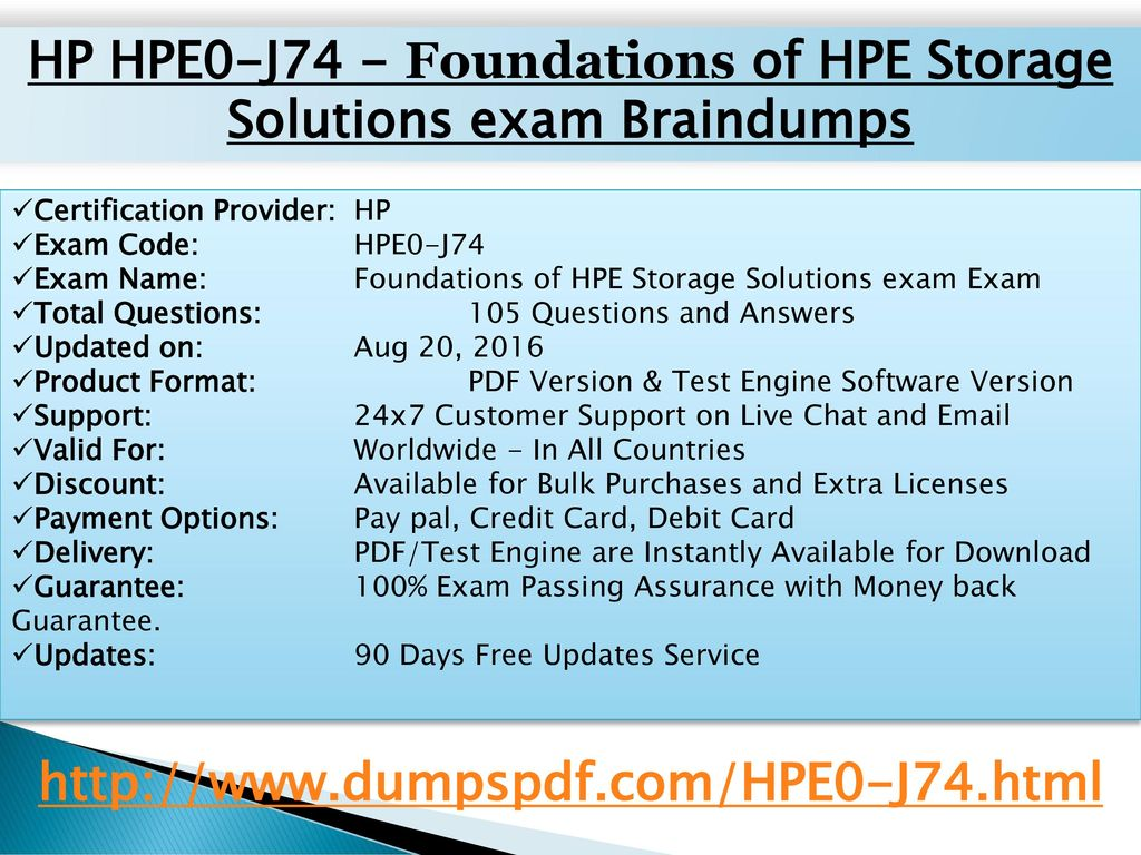 HP HPE0-J74 - Foundations of HPE Storage Solutions exam Braindumps