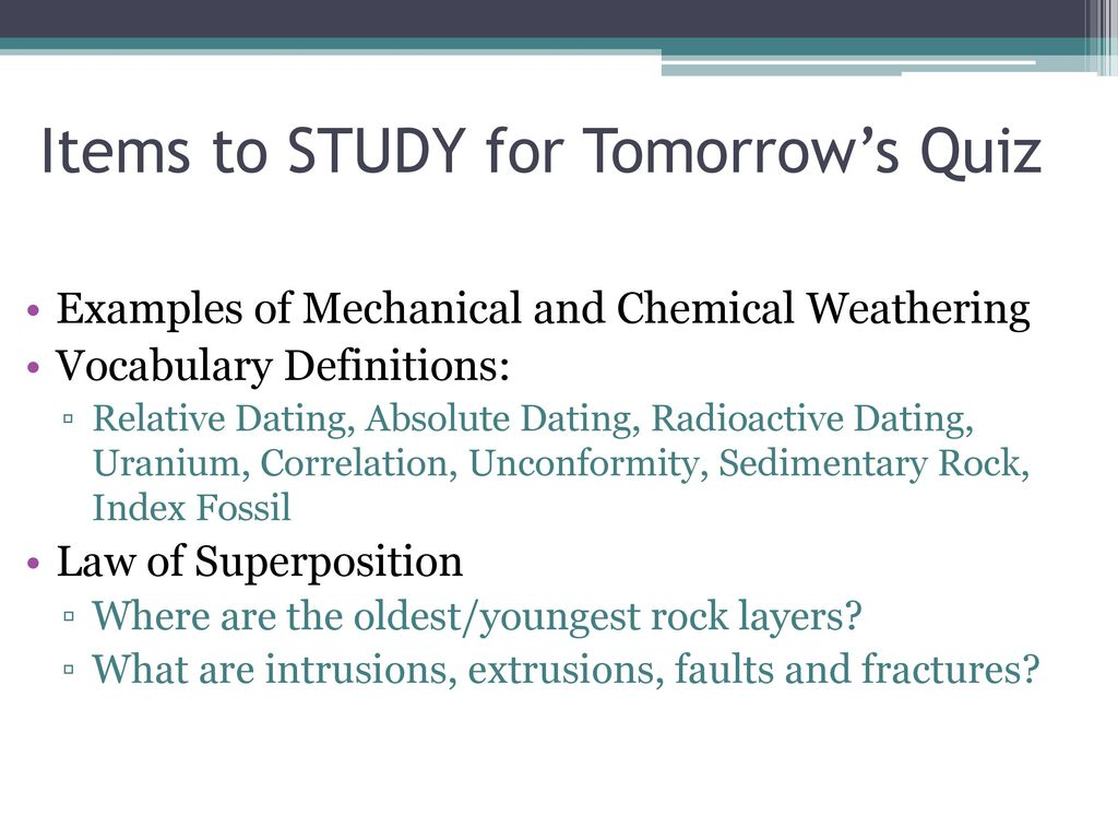 difference between law of superposition and radioactive dating
