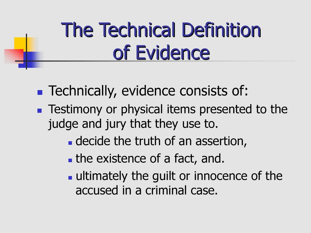 criminal evidence prepared by dr. charles l. feer department of