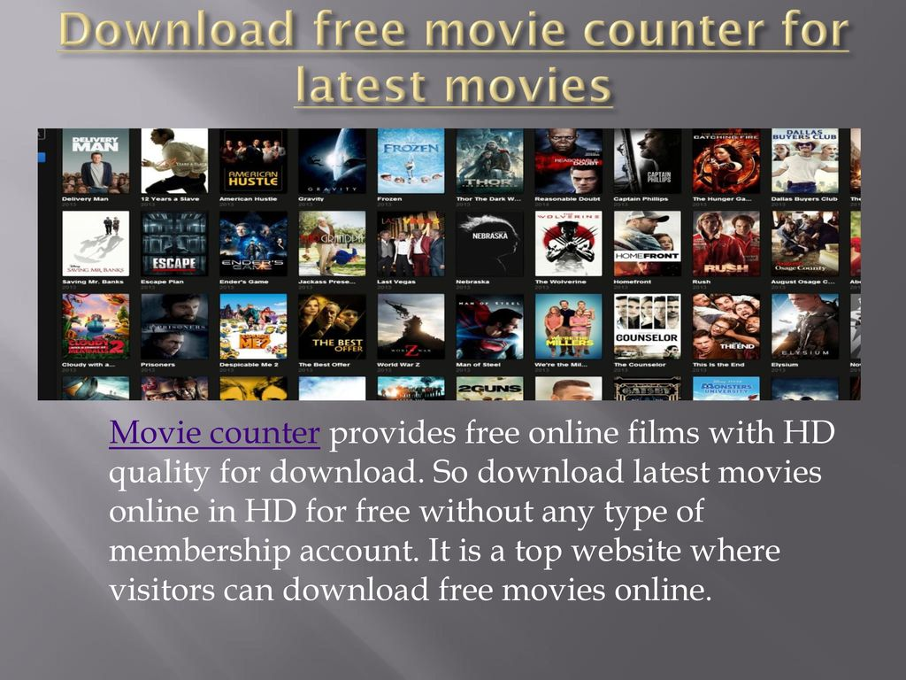 download free movie counter for latest movies - ppt download