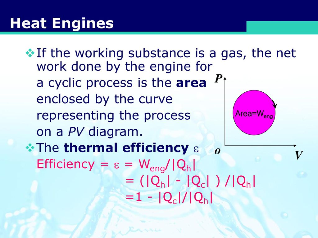 Heat Engines Entropy The 2nd Law Of Thermodynamics Ppt Download Engine Pv Diagram 4