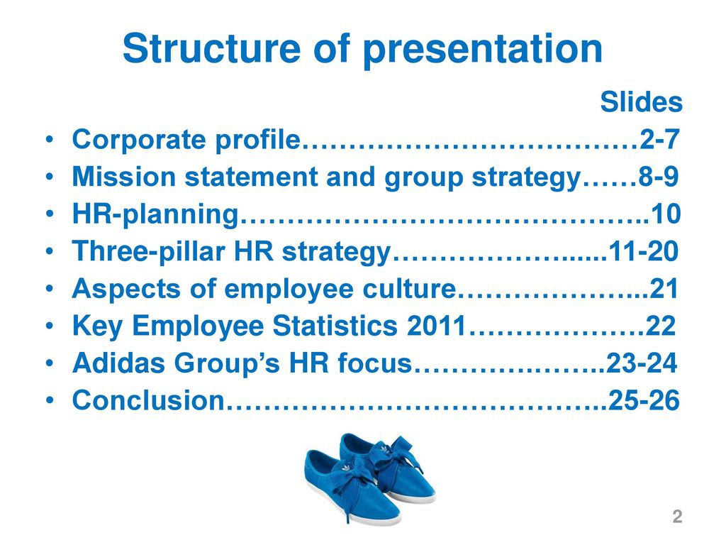 2 structure of presentation