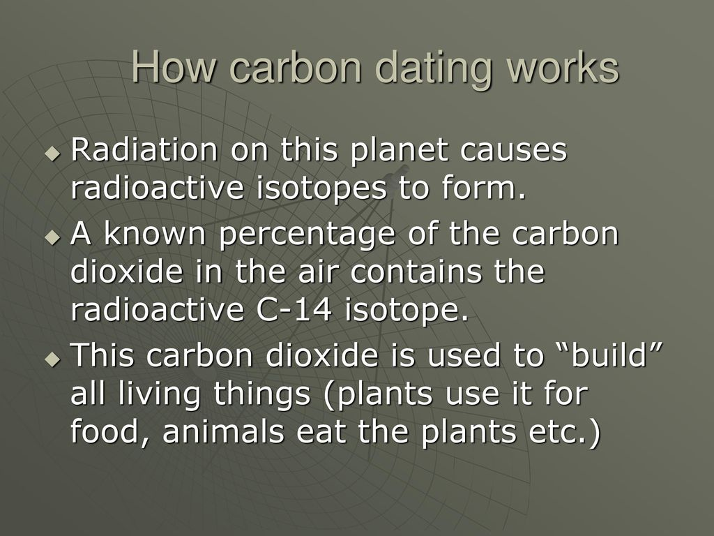 Carbon dating how it works
