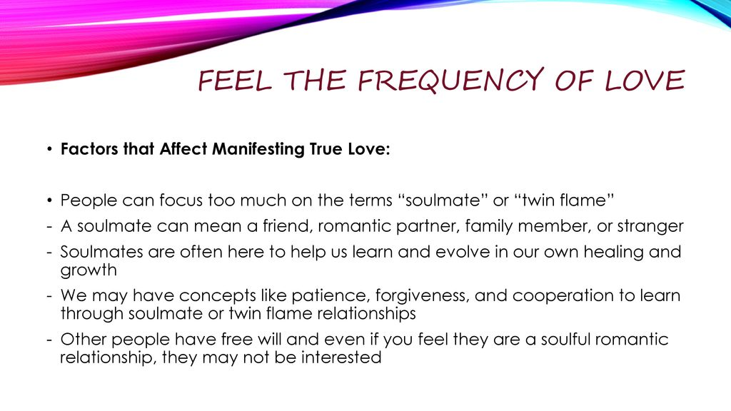 Feel the Frequency of Love - ppt download