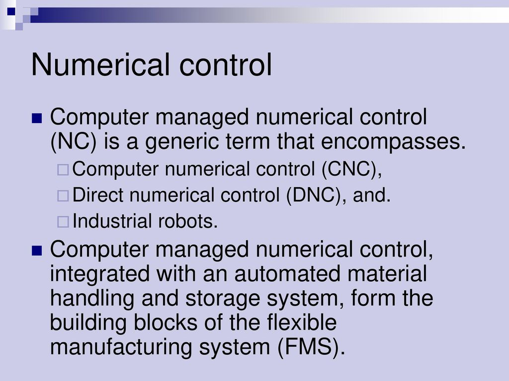 NC, CNC, DNC  - ppt download