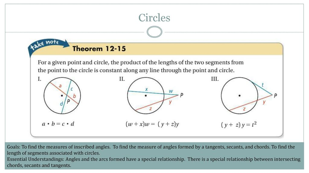 Lesson Angle Measures And Segment Lengths In Circles Ppt Download
