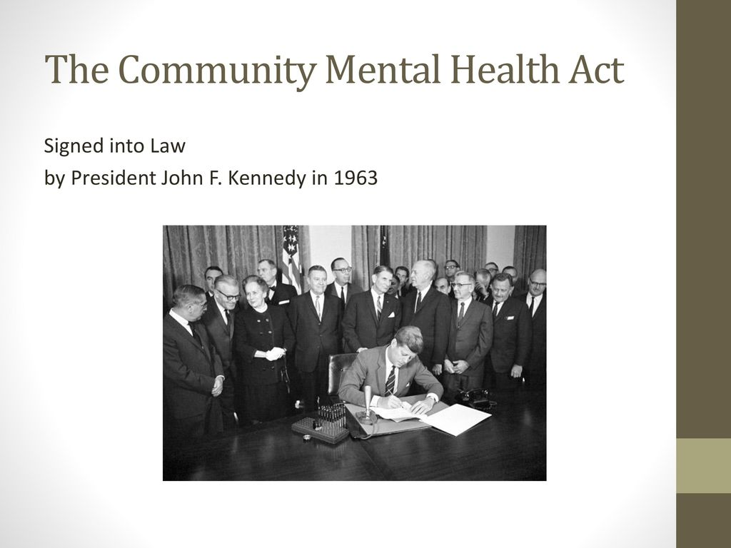 community mental health act of 1963