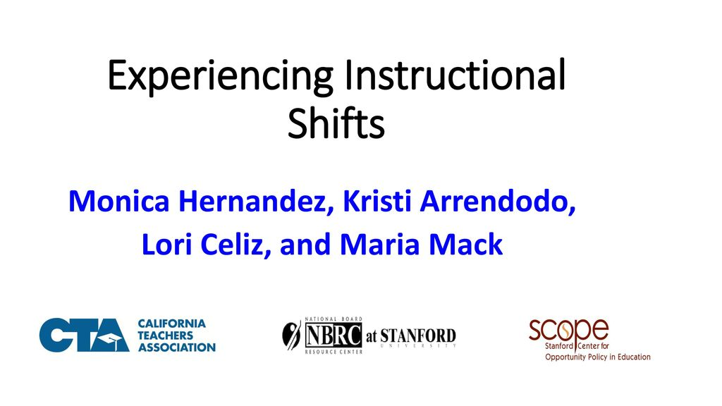 Experiencing Instructional Shifts Ppt Download
