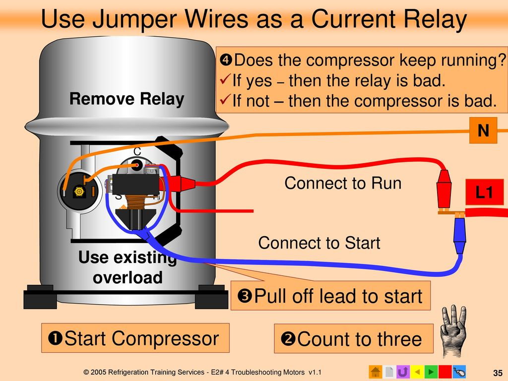 E2 Motors And Motor Starting Ppt Download Current Relay For Compressor Use Jumper Wires As A