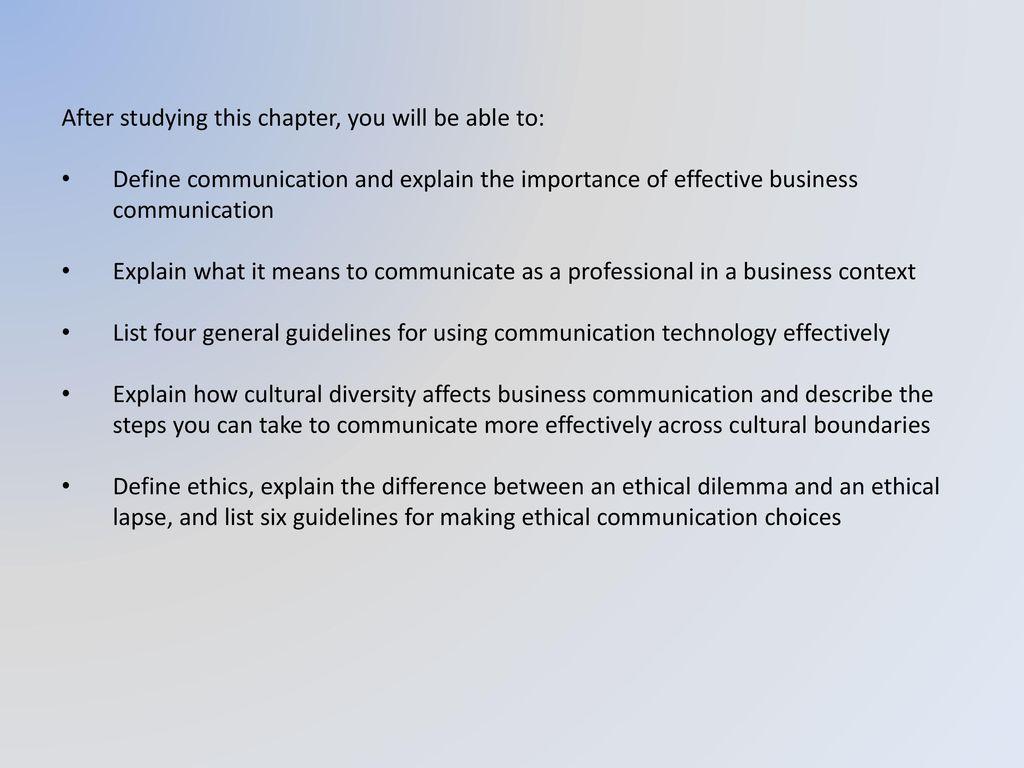 explain the importance of business communication