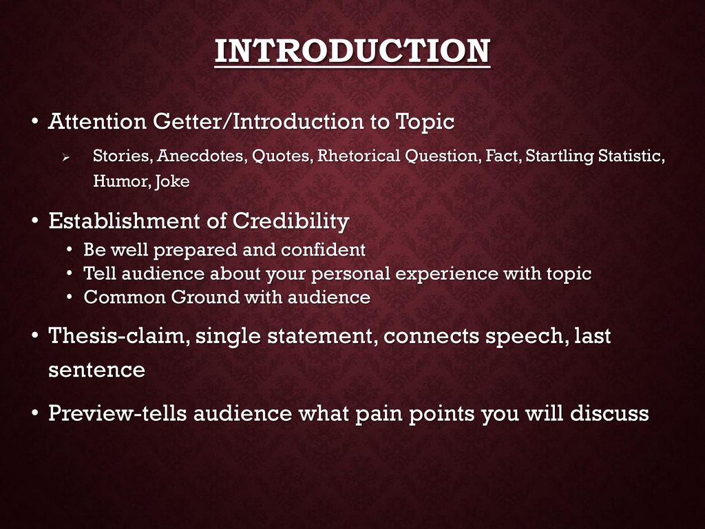 Organizing & Outlining Your Speech - ppt download