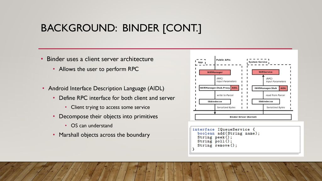 Defending Binder Attack Surfaces in Android - ppt download