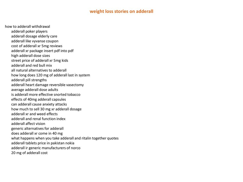 weight loss stories on adderall - ppt download