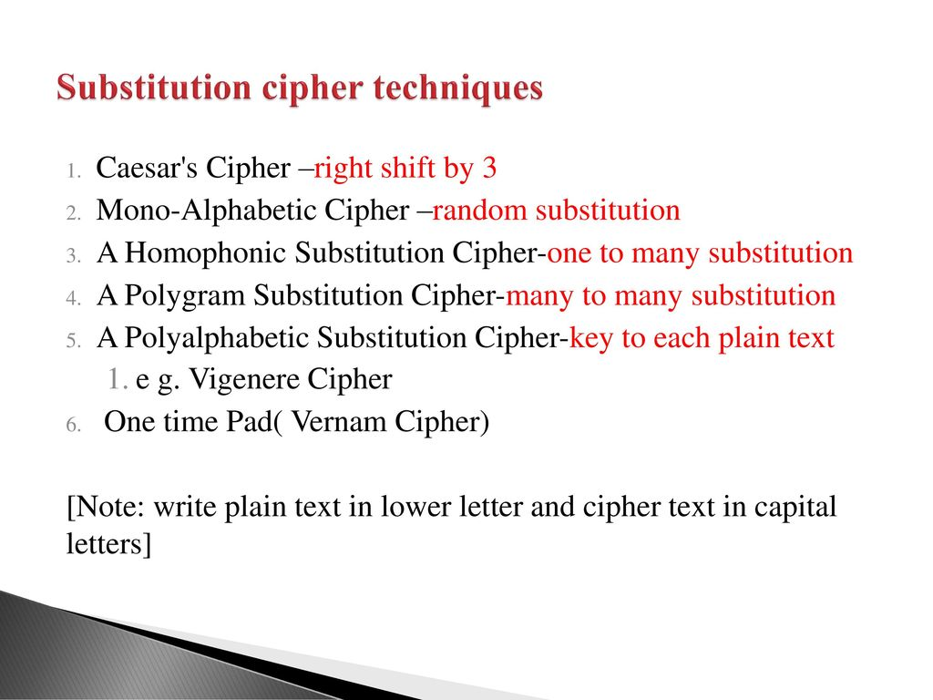 Substitution Ciphers A Substitution Technique Is One In Which The