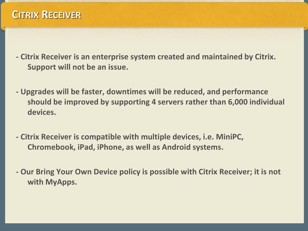 Citrix Reciever Date 3/18/ ppt download